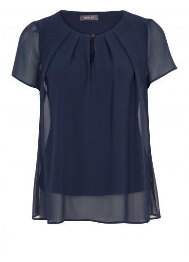 Basler - Bluse mit Faltenpartie
