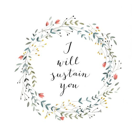 I Will Sustain You print by @kelly frazier Murray