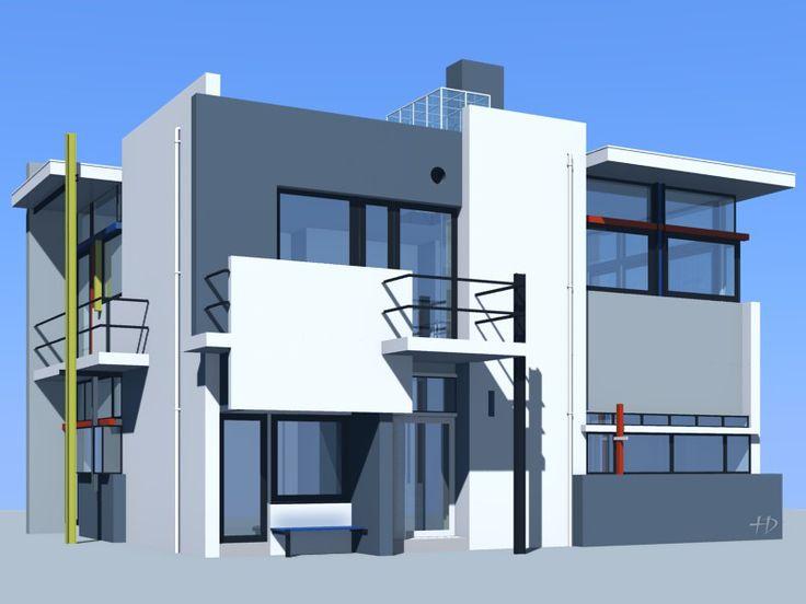 gerrit thomas rietveld maison schr der 1924 histoire de l 39 architecture pinterest. Black Bedroom Furniture Sets. Home Design Ideas