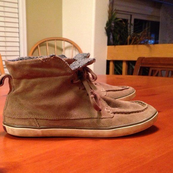 Camper sneakers Tan suede , fleece lined Camper sneakers Camper Shoes Sneakers