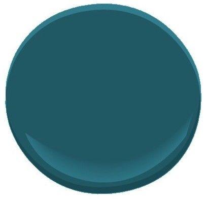 Galapagos Turquoise 2057-20 paint, Benjamin Moore...jewel tone