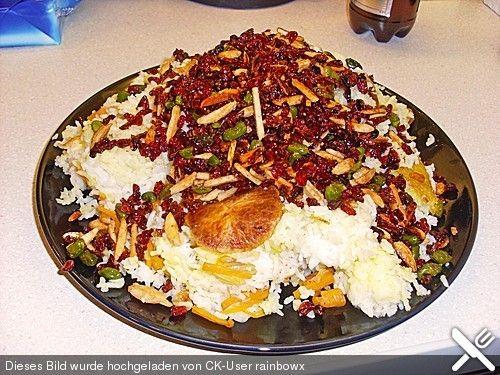 Persischer Juwelenreis, ein schmackhaftes Rezept aus der Kategorie Reis/Getreide. Bewertungen: 23. Durchschnitt: Ø 4,5.