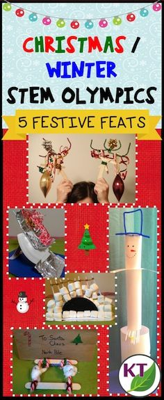 Blog post outlines five festive, fun & fabulous STEM challenges to keep your kids engaged this holiday season! (Challenges can be modified for use with grades 2 - 8.)