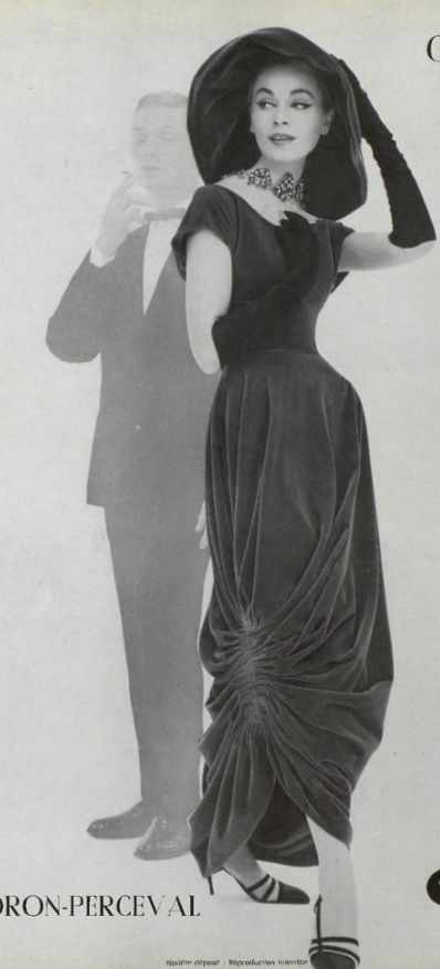 Ciao Bellissima - Vintage Glam; Model wearing Madame Gres, 1957