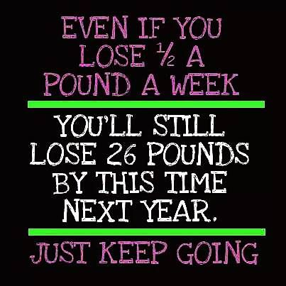 Even if you lose 1/2 a pound a week You'll still lose 26 pounds by this time next year. Just keep going