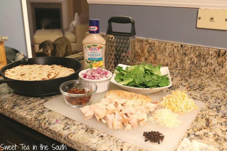 How to make your own Copycat Pita Pit Chicken Caesar Pitas! via Sweet Tea in the South