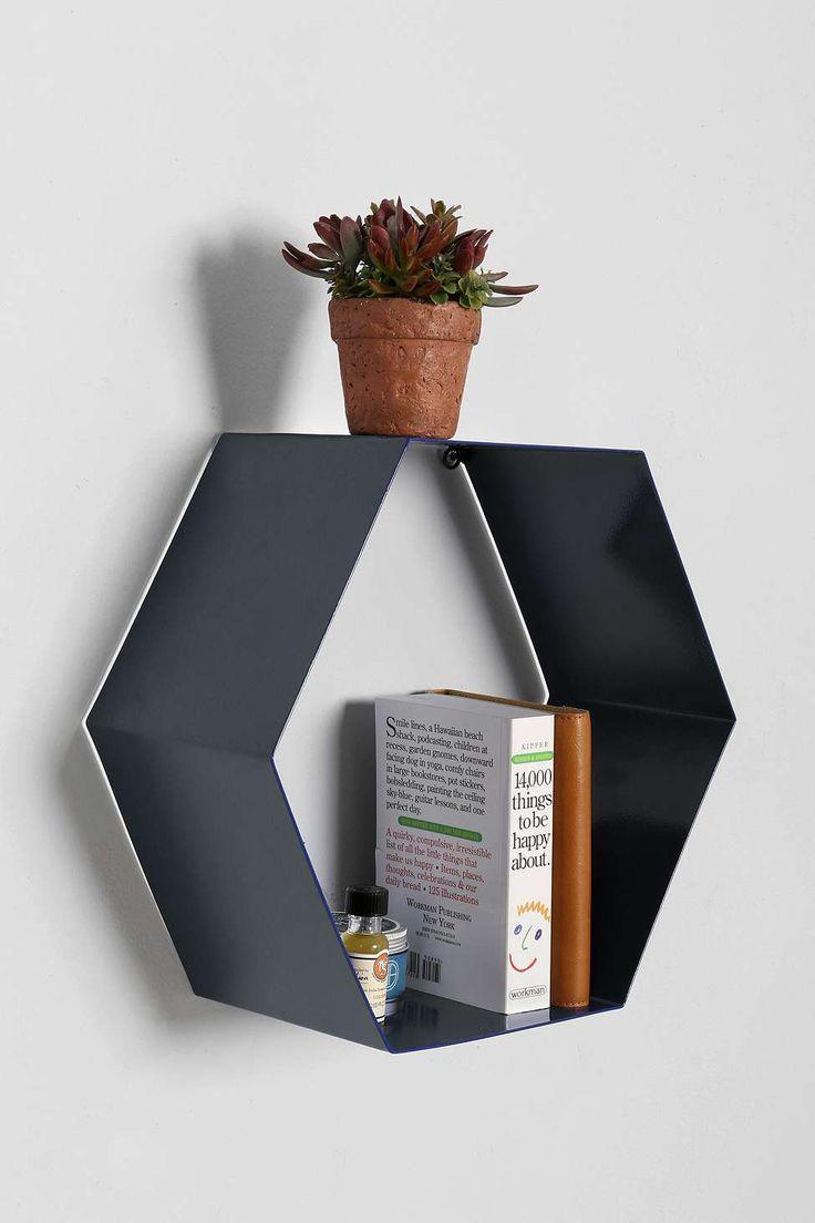 Hexagon Shelf in Grey