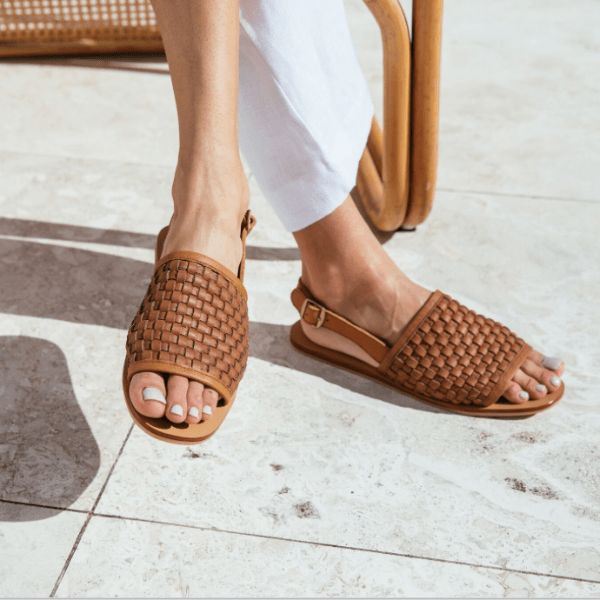 Darci Platted Sandal - Tan – ST. AGNI