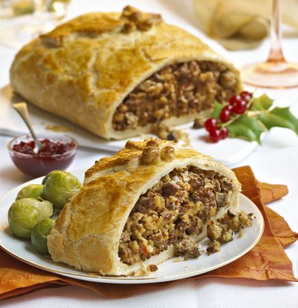 Try this delicious twist on a classic winter warmer, a Wellington using Quorn Meat Free Mince.