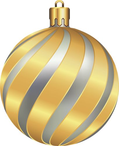 Large Transparent Christmas Gold and Silver Ball