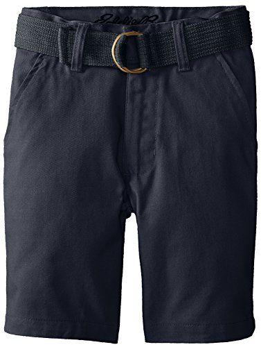 Eddie Bauer Little Boys' Twill Shorts with Back Flap Pockets Navy 7