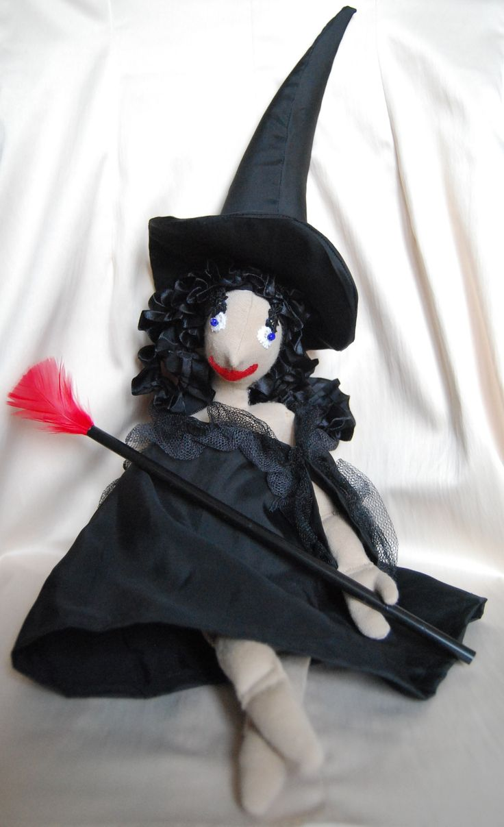 Hullámos Rongyboszorkány - RagWitch with black curly hair