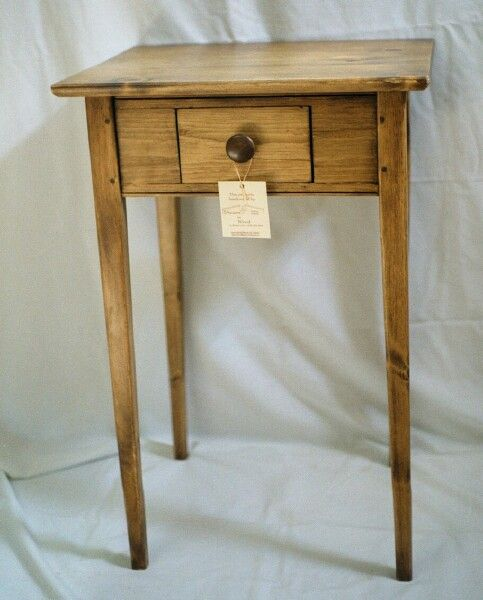 Shaker style pine side table created for the 2000 season of craft shows.