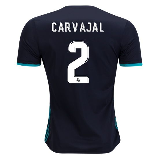 8d831f0dd85 17 18 Dani Carvajal Jersey Number 2 Away Men s Authentic Real Madrid Soccer