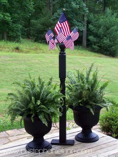American Flag Post