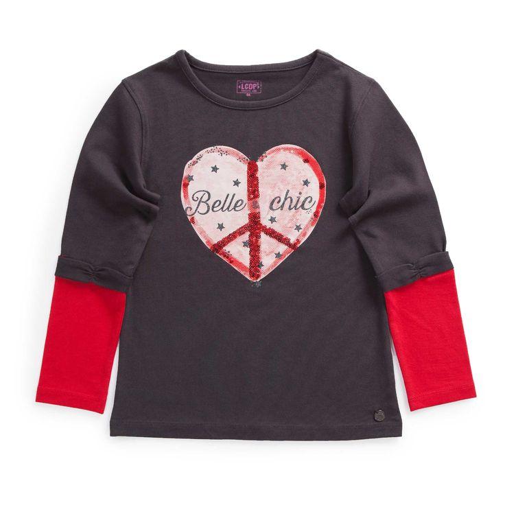 "Tshirt jersey stretch effet superpo ""Paris Chic by la Cie"""