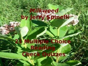 jerry spinellis milkweed 21 multiple choice reading