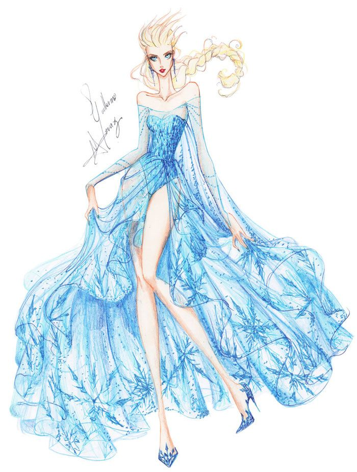 Princesas Fashion por Guillermo Meraz - Elsa.