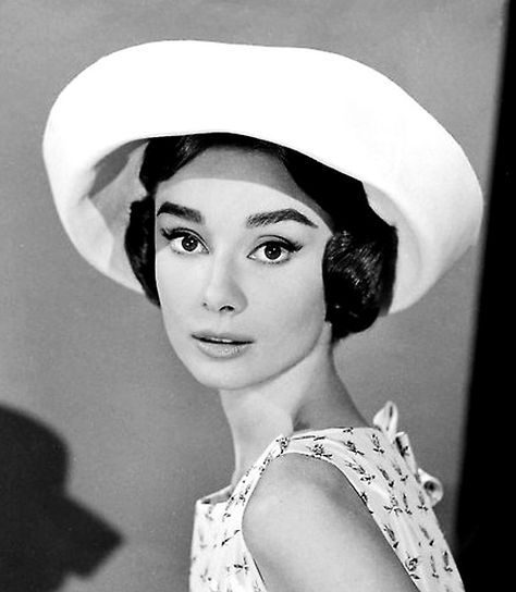 Audrey Hepburn photographed in a promotional shoot for Love in the Afternoon 1957