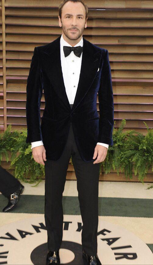 Tom ford on the red carpet tom ford suit velvet blazer bow tie