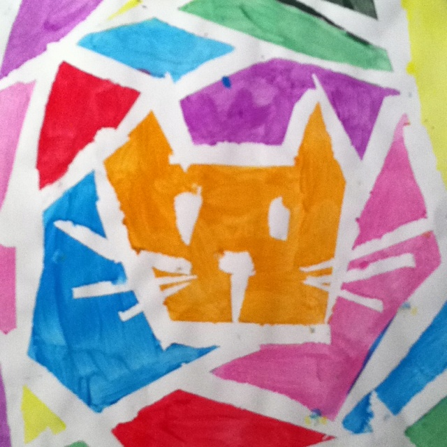 Paint Masking Tape Art Projects for Kids