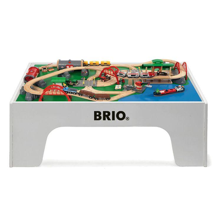 BRIO - Wooden Train Table Play Set - White