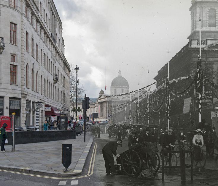 Londres antes y ahora Duncannon Street