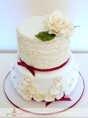 Beautiful Unique Shabby Chic Style Wedding Cakes Top That 40th Anniversary
