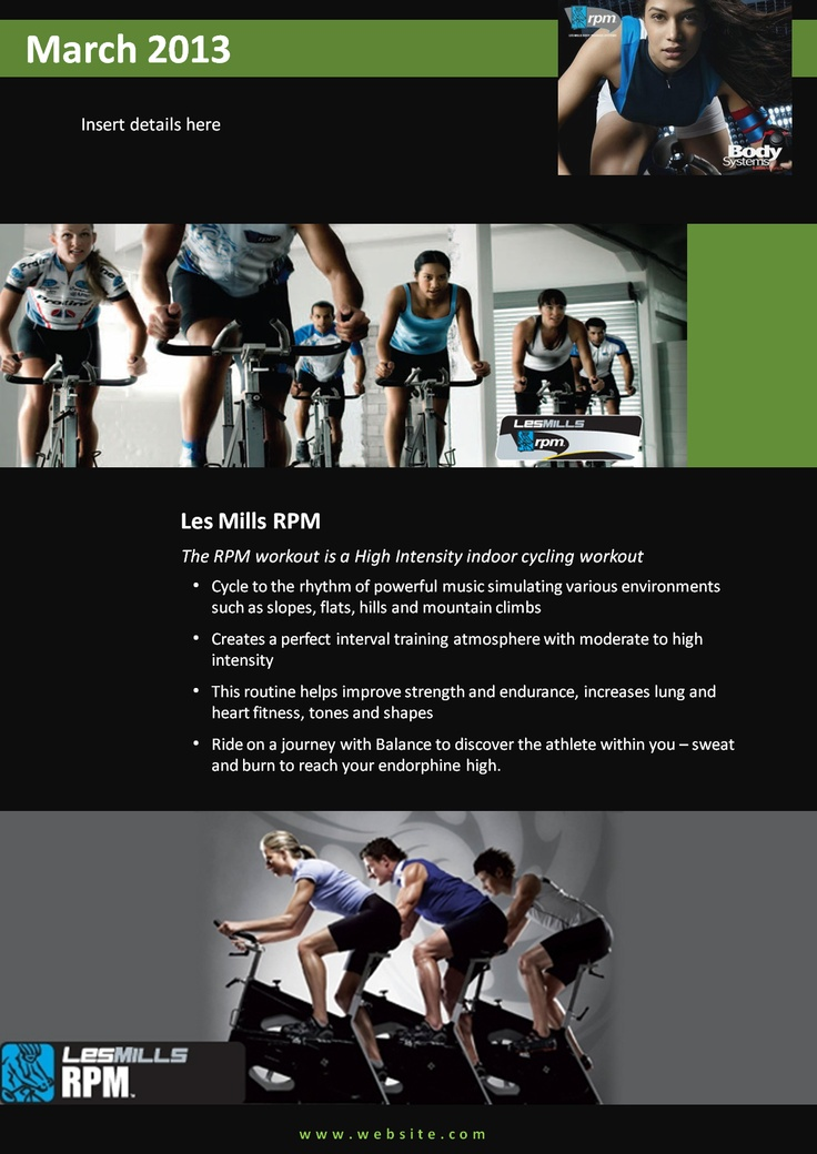 a4 or a5 fitness club or gym flyer