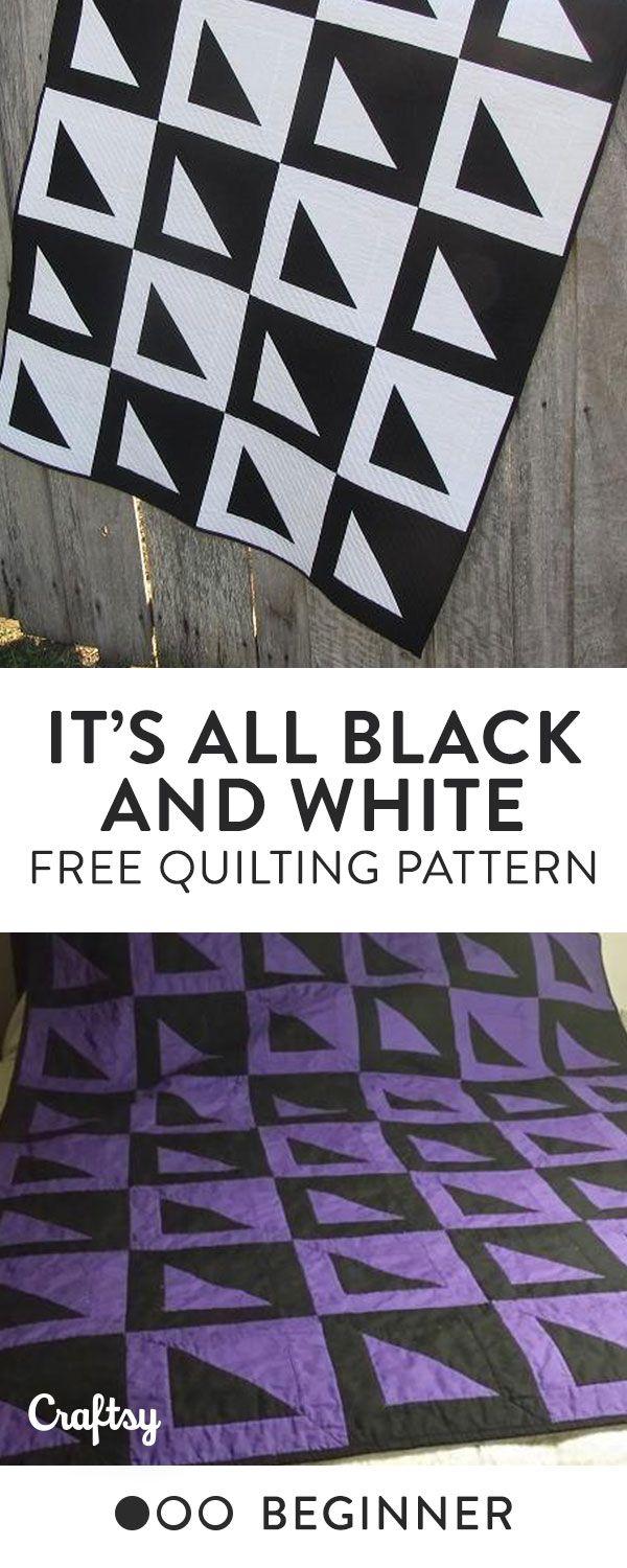It's All Black and White (a.k.a The Black and White Quilt of Awesomeness) was created as an introduction to half square triangles (HSTs). This is a simple, yet effective quilting pattern that suits a beginner yet is still interesting for more advanced quilters. Free Pattern.