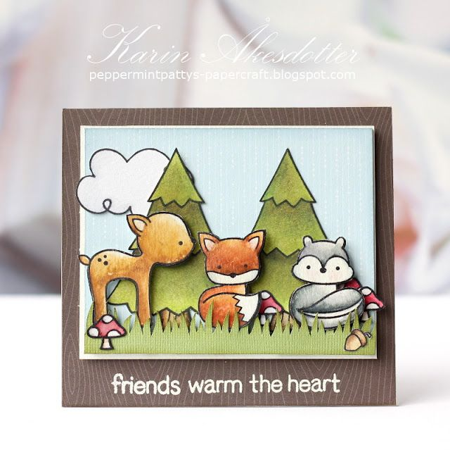 Peppermint Patty's Papercraft: Post for Lawnscaping Challenges: Friends warm the ...