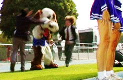 My Chemical Romance - I'm Not Okay. Frank literally jumps over Brian's head and I think that's kinda amazing. gif