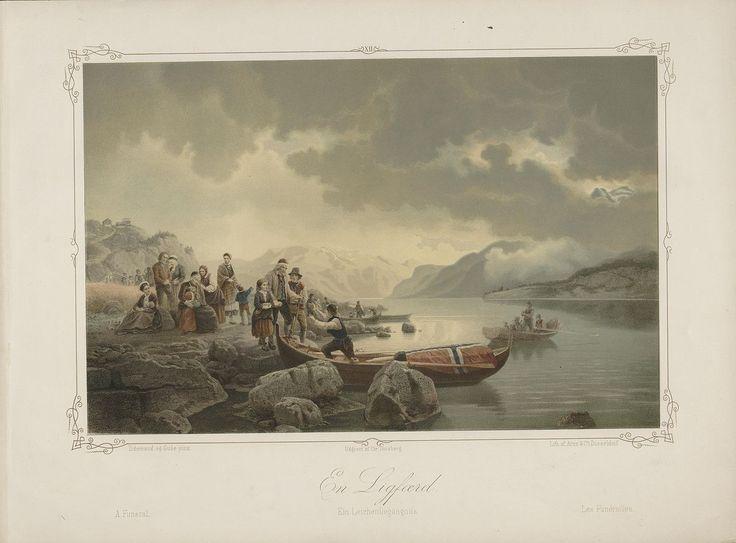 Adolph Tidemand & Hans Gude - En Ligferd. Illustrasjon hentet fra boken Norske Folkelivsbilleder av Tidemand, Adolph og utgitt av Chr. Tønsberg (Christiania,1854). jpg (1280×946)