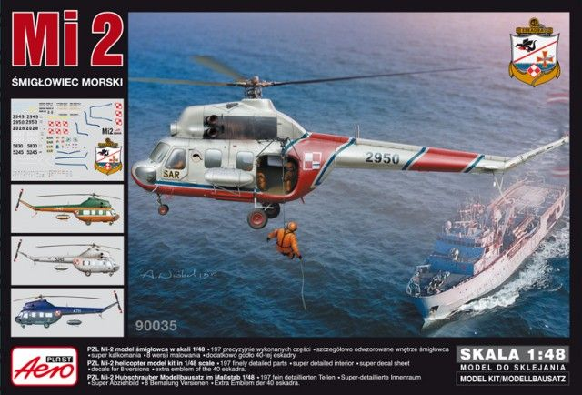 PZL Mi-2, Navy Helicopter. Aeroplast, 1/48, initial release 2013, No.90035. Price: 27,13 EUR (marketplace).