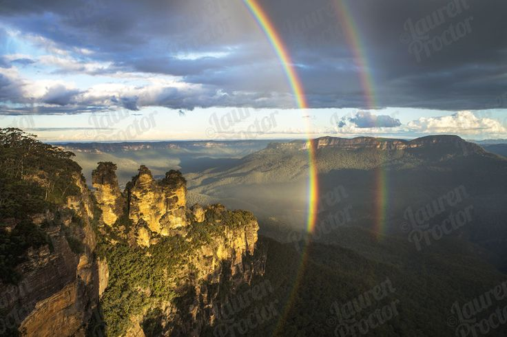 3 Sisters, 2 Rainbows at the Blue Mountains, Katoomba, NSW... www.laurenproctorphotography.com