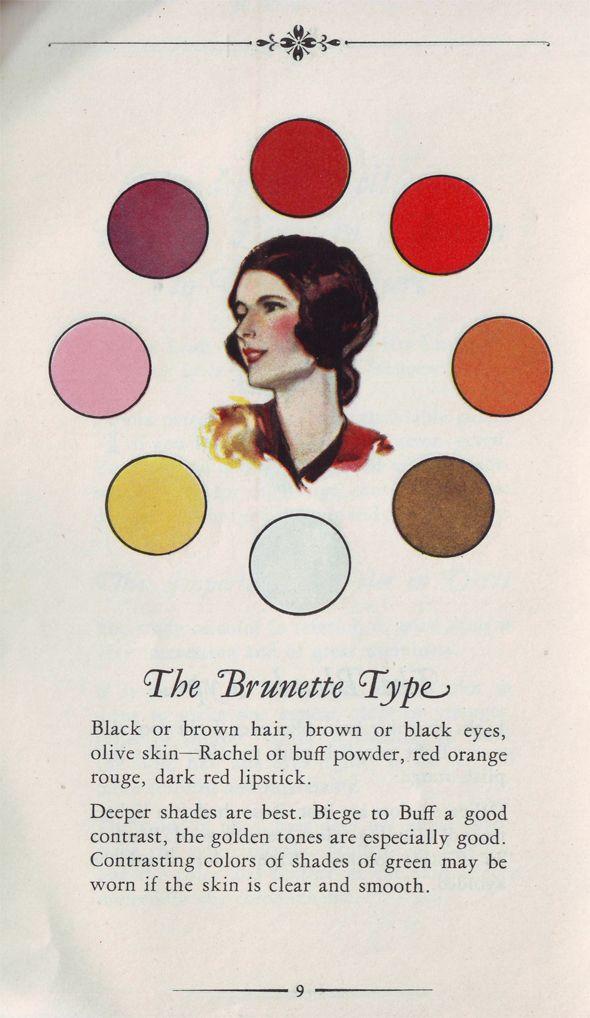 Vintage Color Palette for Brunettes: Vintage Books, Colors Charts, Hair Colors, Brunettes Hairstyles, Vintage Colors, Dresses Based, Colors Wheels, Brunettes Beautiful, Brown Hair