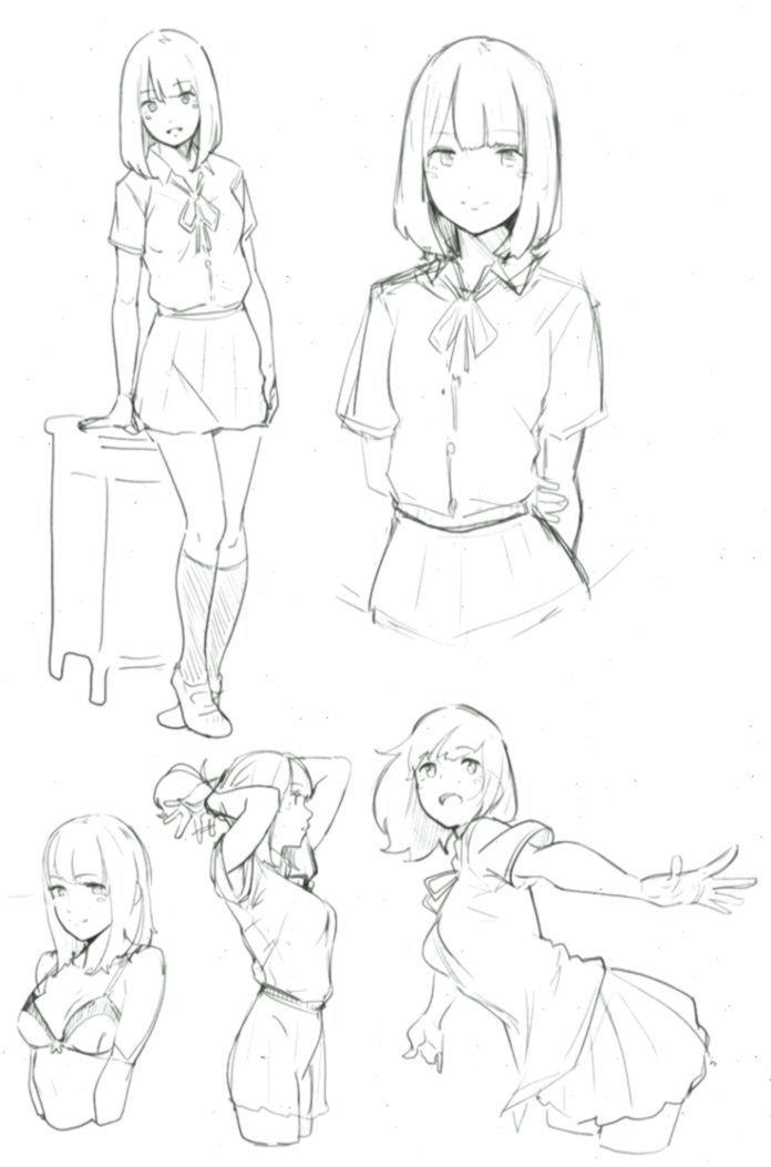 Anime High School Girl Drawing 1000 Ideas About Anime School Girl On Pinterest Anime Drawing Girl High Ideas Pin En 2020 Boceto De Chica Dibujos Boceto