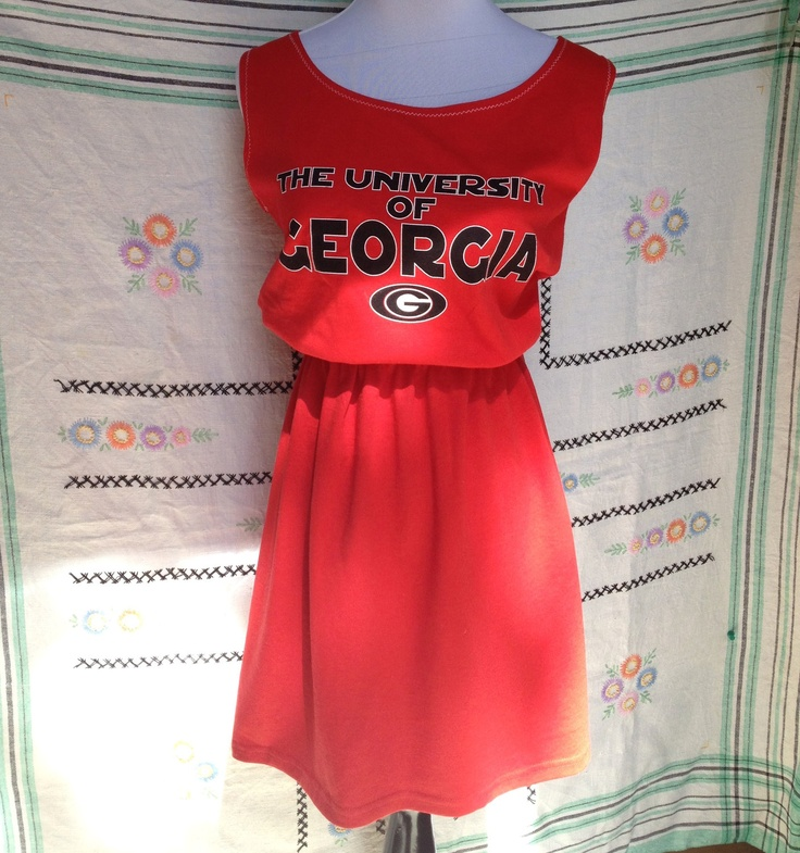 University of Georgia UGA Bulldogs Game Day T Shirt Tee Dress. $30.00, via Etsy.