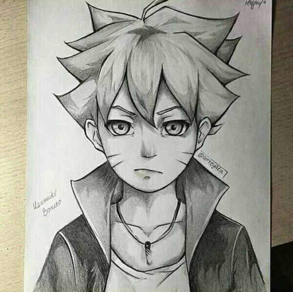 Best boruto pencil shading