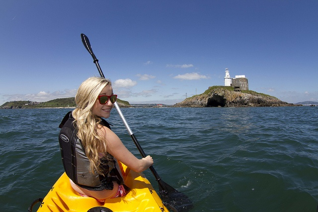 Kayaking on Swansea Bay