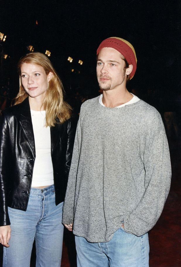 Gwenyth Paltrow and Brad Pitt. CLICK for more retro celebrity couples.