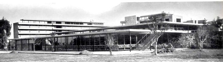 Restaurante Principal, Ciudad Universitaria, México DF 1953  Arq. Jorge Rubio, Eugenio Urquiza y Carlos Zetina -  University restaurant, UNAM, Mexico City 1953