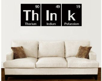 Think Wall Decal Periodic Table Decal by OffTheWallExpression