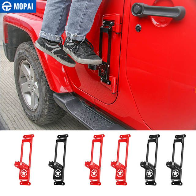 Online Shop Mopai Car Door Hinges Foot Rest Pedal Plate Foot Pegs For Jeep Wrangler Jk Jl 2007 2018 Car Accessorie Jeep Wrangler Jk Wrangler Jk Car Accessories