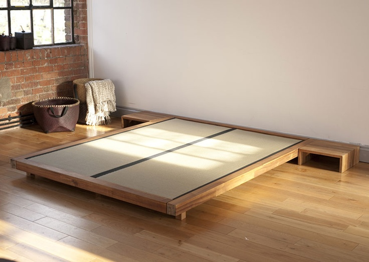 44 Futon Company Solid Acacia Bed Frame With Tatami Mats King Size
