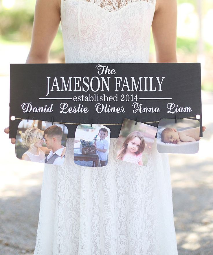 'Family Established' Personalized Wall Sign (175399)