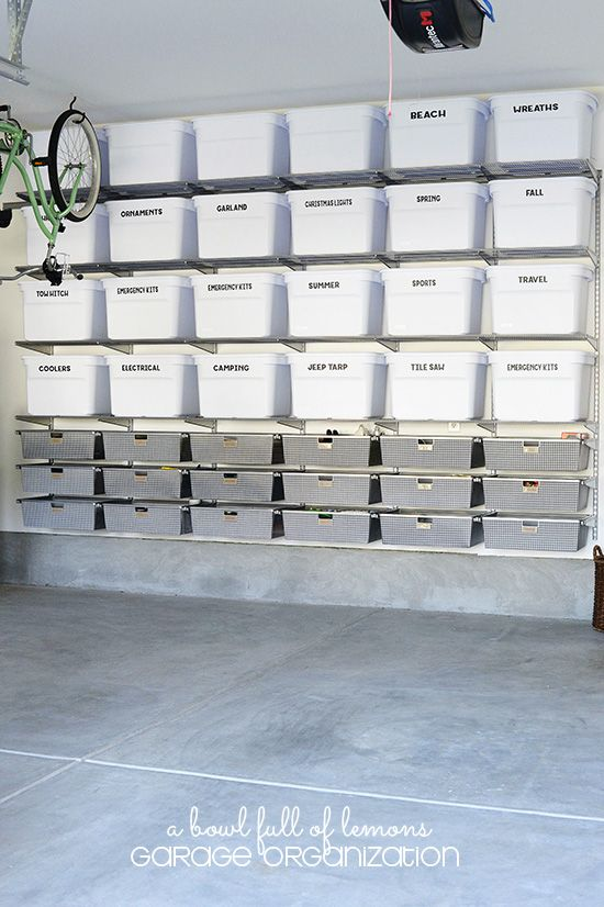 If you have a lot to organize or store in your garage, an easy shelving system is a must.