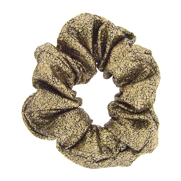 <P>Adorn your ponytail with holiday sparkle from this metallic scrunchie.</P><UL><LI>Metallic gold design<LI>Elastic band for secure hold</LI></UL>