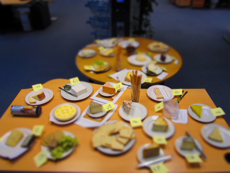 Office Cheese Day. Tilt and Shift shot.