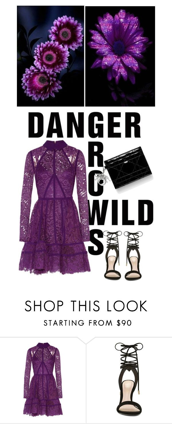 """""""Purple Lace Dress"""" by shaneeeee ❤ liked on Polyvore featuring Elie Saab, ALDO, purple and lacedress"""